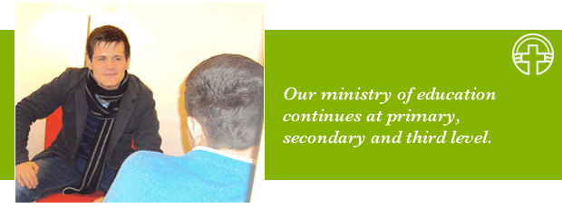Our ministry of education continues at primary, secondary and third level.
