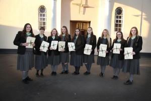 Killester Girls Make 500 St Brigid's Crosses