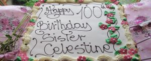 Centenarian Celebrations for Sr Celestine