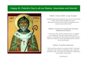 Happy St Patrick's Day to all our Sisters, Associates and friends!
